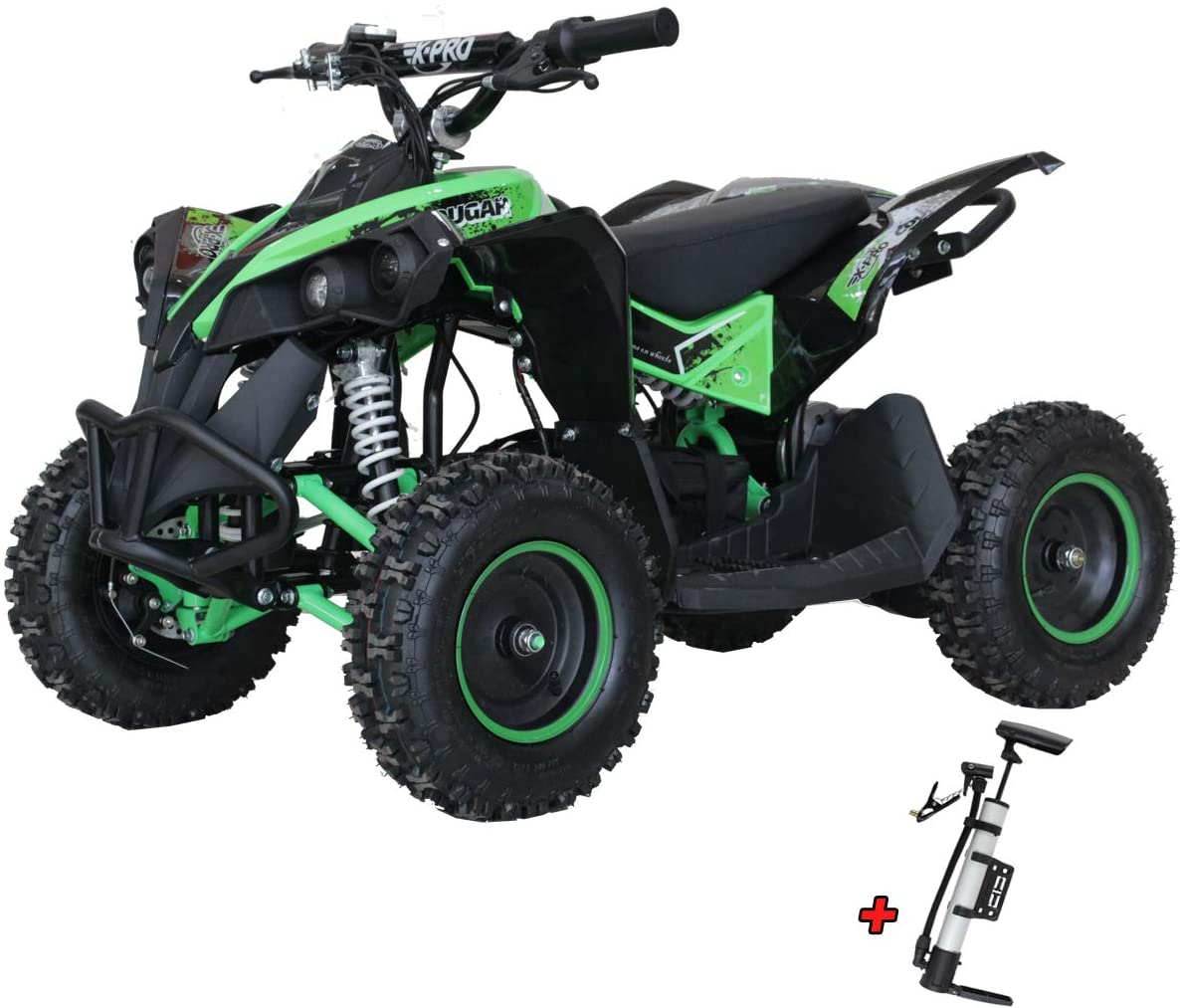 X-PRO Cougar 1000 Electric Kids ATV Quad 4 Wheeler, Dirt Quad Electric Kids Four-Wheeled Off-Road Vehicle 1000W 36V Battery Powered (Green)