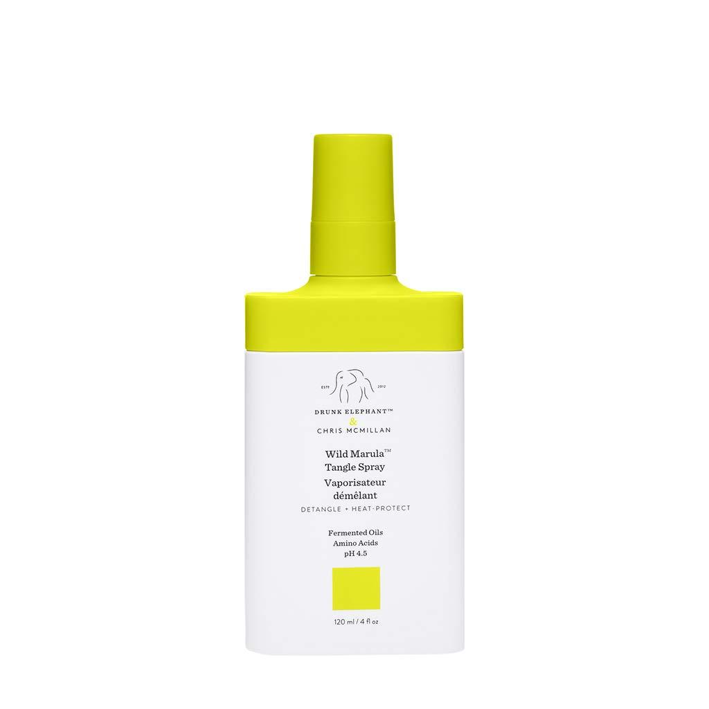 Drunk Elephant Wild Marula Tangle Spray. Weightless and Heat-Protectant Detangler for Hair. (4 fluid ounces)
