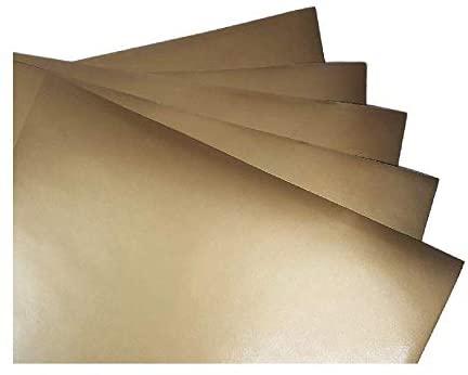 Gold Metallic (glossy) 5-pack of adhesive vinyl sheets - 12