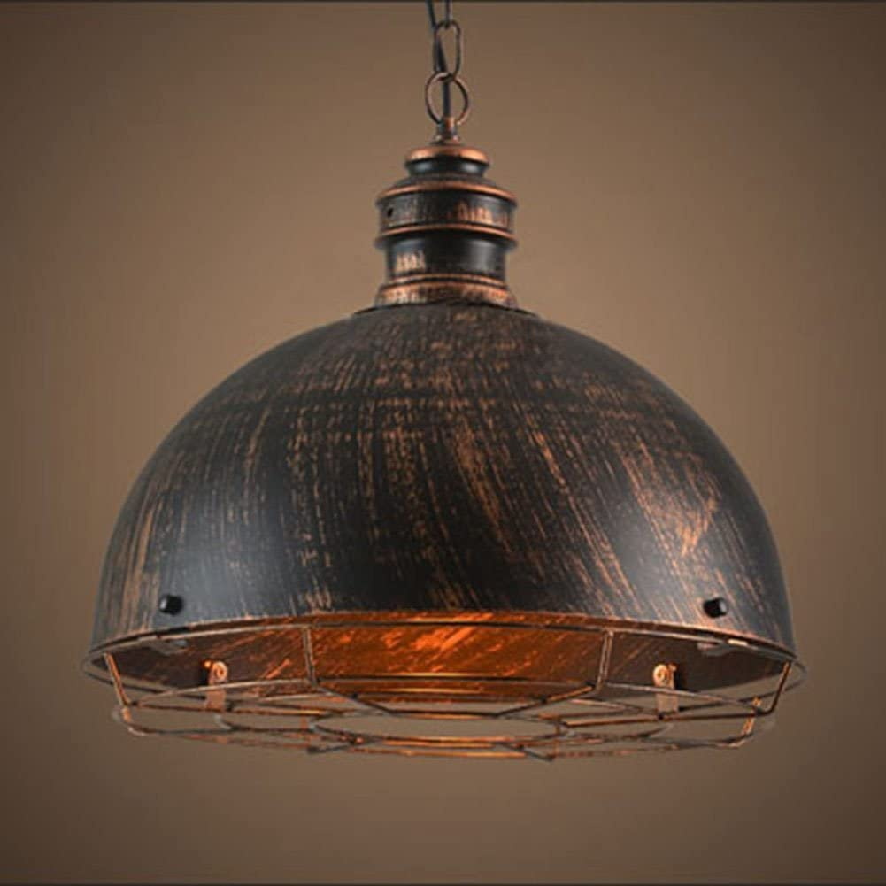Baycher Vintage Industrial Rustic Style Iron Ceiling Pendant Light Creative Retro Light Fixture Chandeliers Metal E27 Pendant Lamp with Painted Finish for Dining Room Kitchen