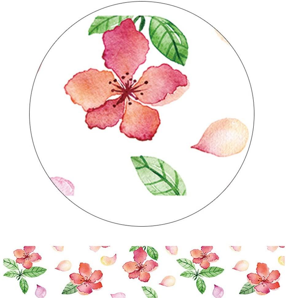 Alideco Decorative Craft Washi Masking Tape Japanese Paper Tape ScrapBook pink flower Calendar