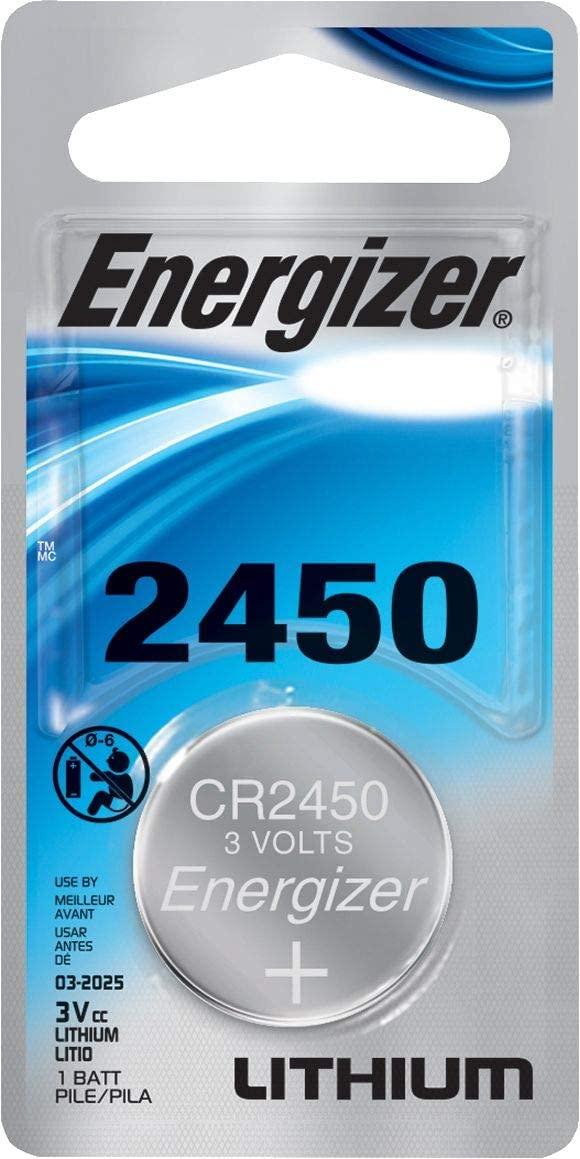 NEW 2 pcs Energizer CR2450 ECR2450 CR 2450 3v Lithium Batteries