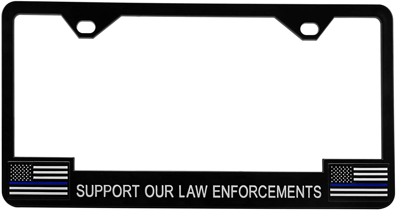 PILOT WL818 First Responder License Plate Frame, Police Blue