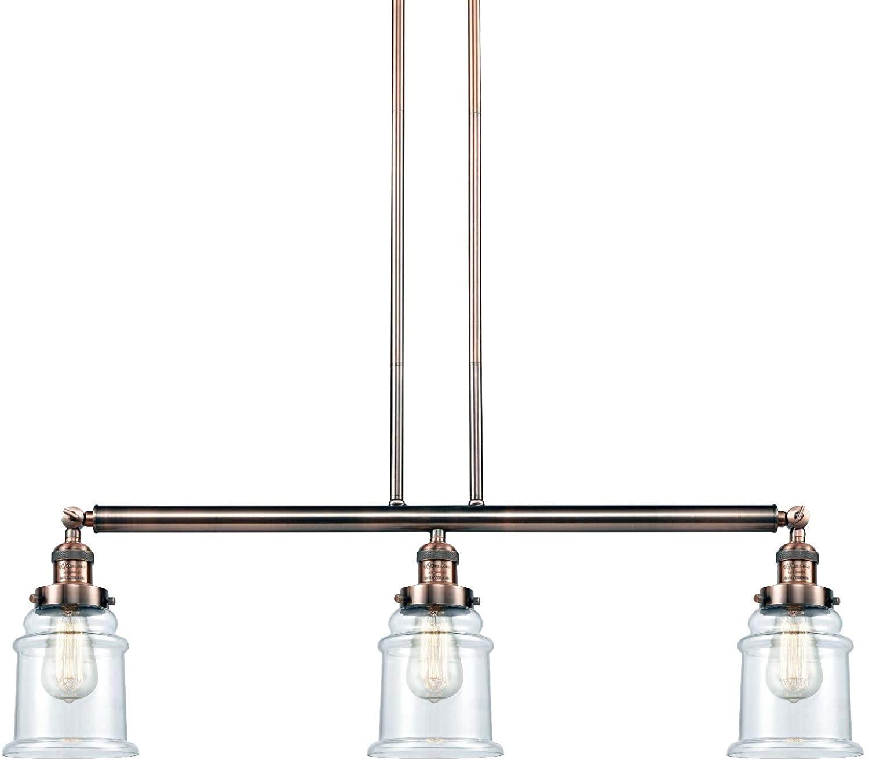 Innovations 213-AC-S-G182 3 Adjustable Island Light, Antique Copper