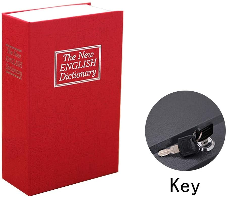 Safes Safe box Portable Book Key Storage Box Suitable For Inch Small Valuables Different Colors 6.12.19.4 Inches Safes (Color : Red)