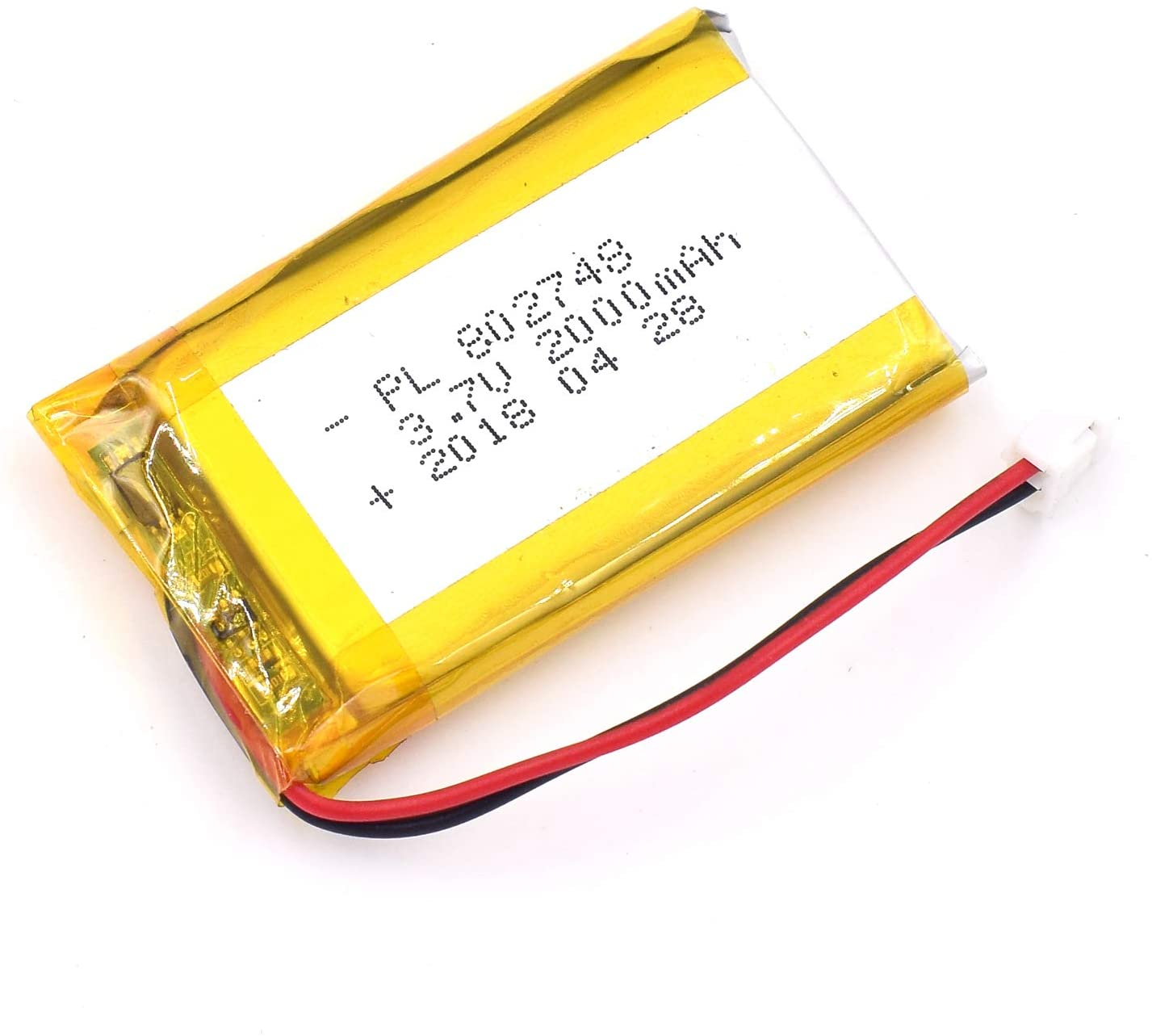 3.7V 1225mAh 802748 Lipo Battery Rechargeable Lithium Polymer ion Battery Pack with JST Connector