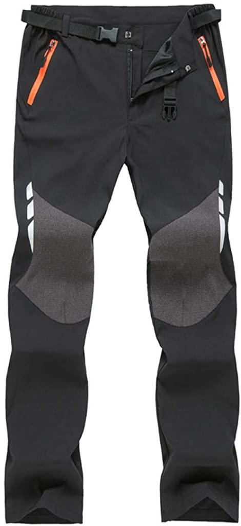 ZhixiaYS Men Quick-Drying Outdoor Waterproof Trousers Hiking Ski Climbing Pants