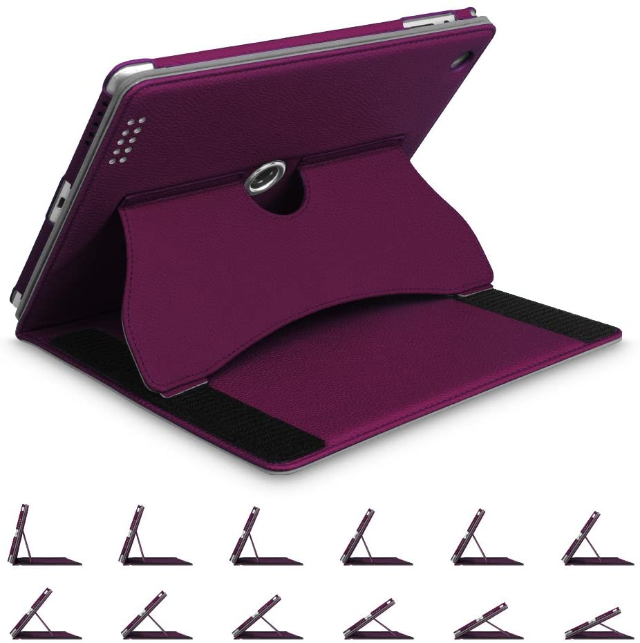 Fintie Case for iPad 2 3 4 Case (Old Model) 9.7 inch Tablet - [Multi-Angle Viewing] 360 Degree Rotating Smart Stand Cover Auto Sleep/Wake for iPad 4th Gen Retina Display/iPad 3 / iPad 2, Purple