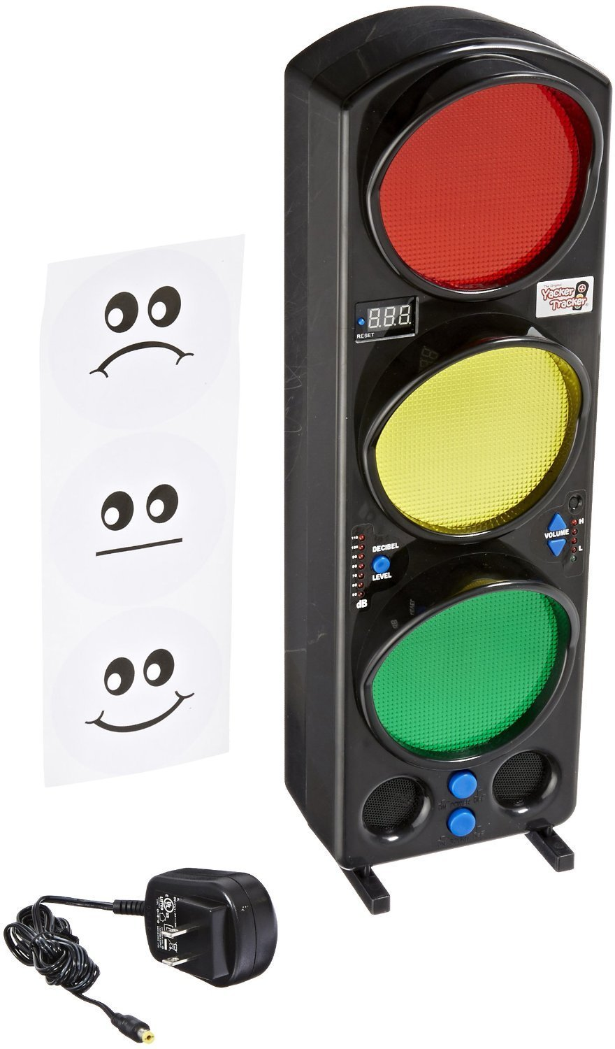 Yacker Tracker Noise Level Monitor Detector - Visual LED Traffic Signal Light - Great for Schools, Classrooms, Cafeterias, Hospitals and More - 17