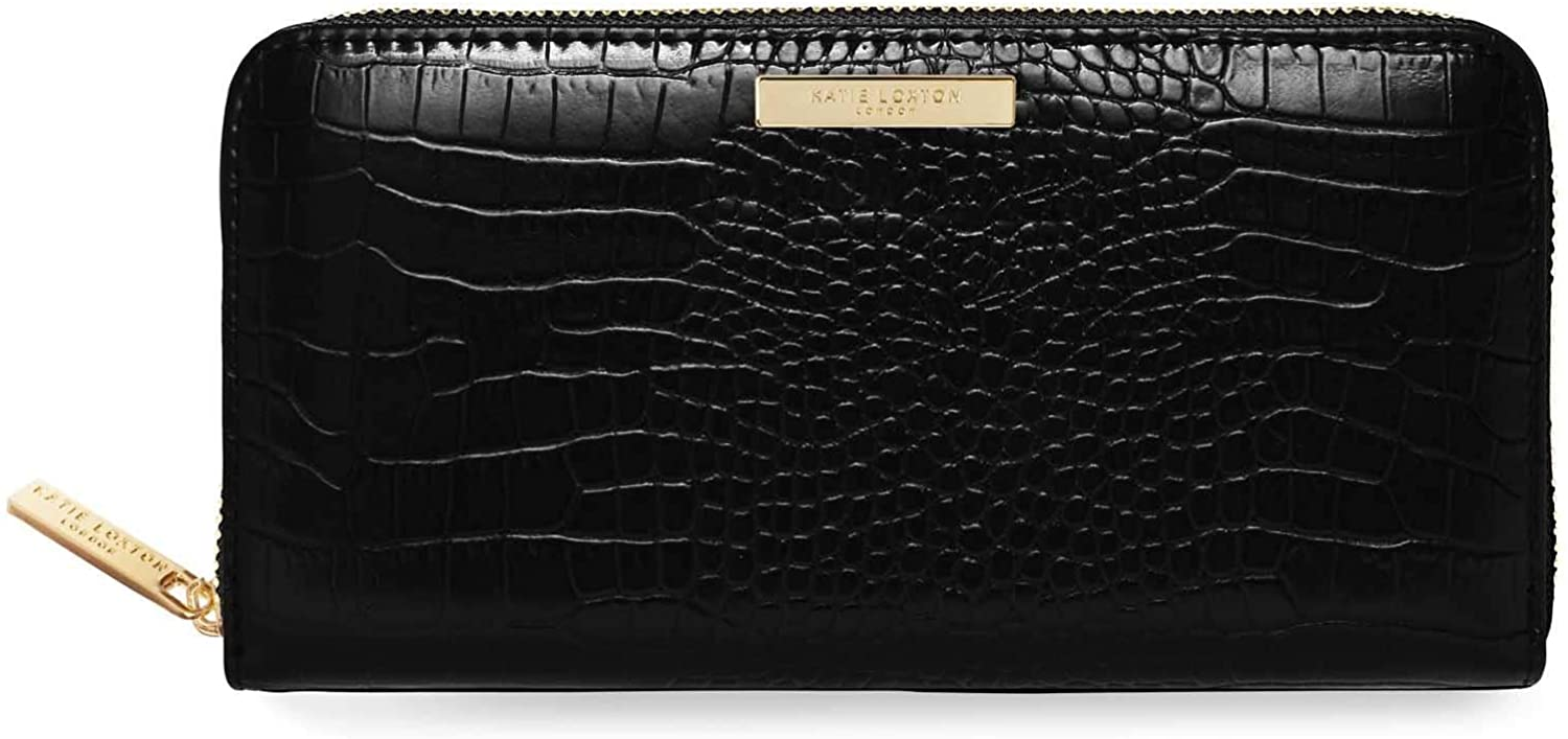 Katie Loxton Celine Faux Crocodile Vegan Leather Fashion Full Zip Wallet Purse