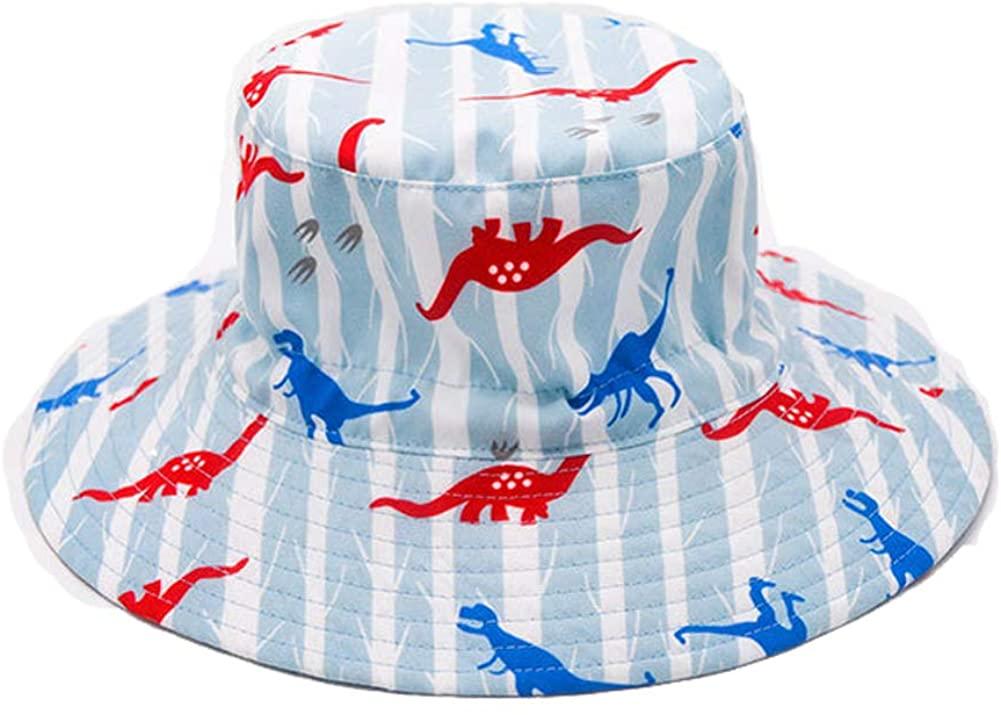 Bestry Baby Sun Hat Boys Girls Adjustable Summer Sun Protection Beach Bucket Hat Toddler Wide Brim Hat UPF 50+