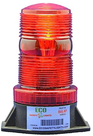 B1LHPFAC RED 85-265V AC 7.5W LED 5D DIRECTIONAL FLASHING BEACON FORKLIFT EMERGENCY WARNING LIGHT STROBE EFFECT 110V 120V 220V 240V