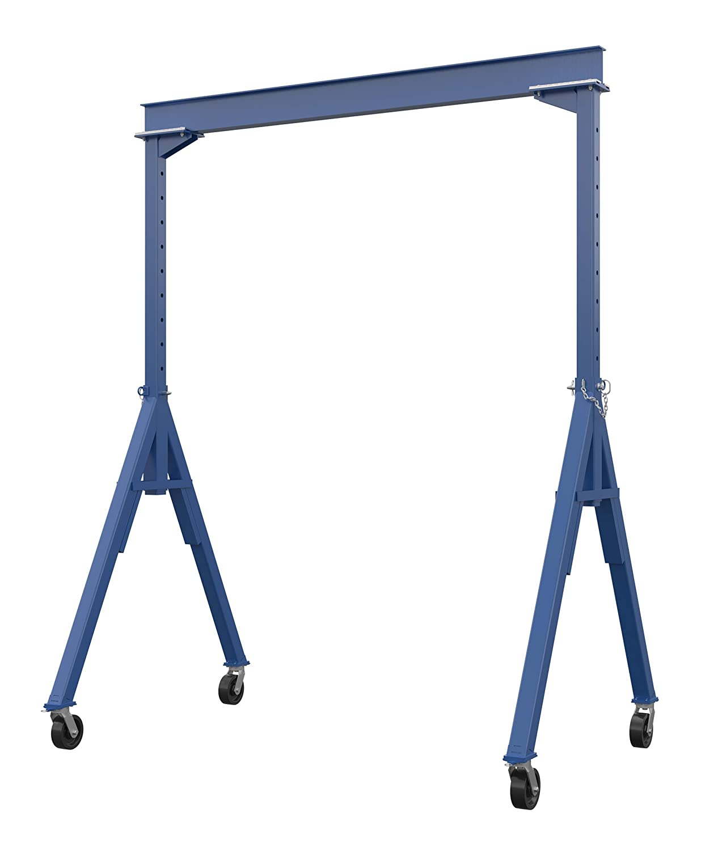 Vestil AHS-4-10-14 Steel Adjustable Height Gantry Crane, 4000 lbs Capacity, 10' Length x 8