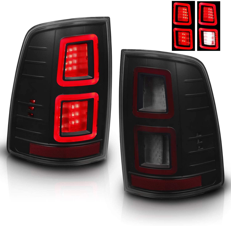 AmeriLite Smoke FULL LED Light Bar Tail Lights For 2009-2018 Dodge Ram 1500 2500 3500 [Do Not Fit] - Factory LED Version