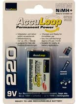 48 X 9 Volt 220 Mah Acculoop Low Discharge Nimh Rechargeable Batteries