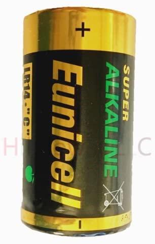 Hillflower 8 Piece Size C LR14 EN93 AM-2 MN1400 AM2 Bulk 0% Hg 1.5V Ultra Power Alkaline New Battery