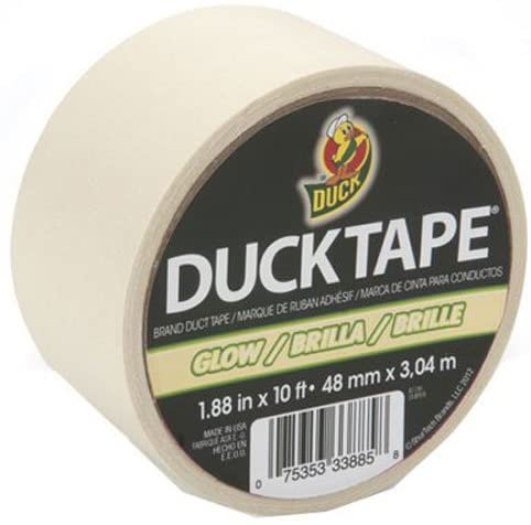 Duck Brand 281261 Glow in the Dark Duck Tape, 10 Length x 1-7/8 Width