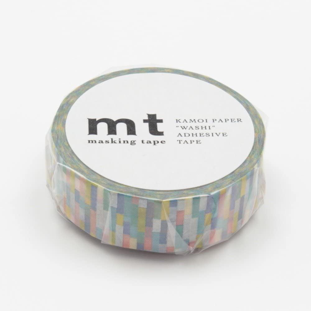 MT Patterns Washi Paper Masking Tape, 3/5 x 33, Block Blue (MT01D221)
