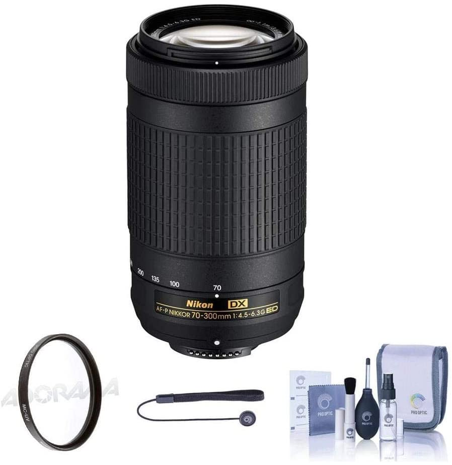 Nikon AF-P DX 70-300mm f/4.5-6.3G ED Lens - Bundlewith Filter Kit