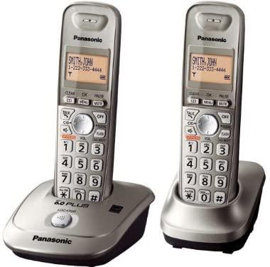 Panasonic KX-TG4012N DECT 6.0 PLUS Expandable Digital Cordless Phone with 2 handsets