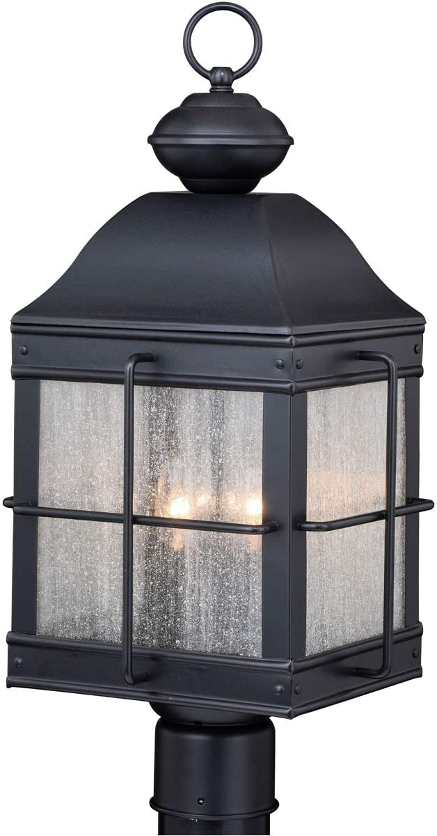 VAXCEL Traditional Outdoor Post Light in Oil Rubbed Bronze Finish