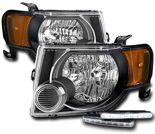 ZMAUTOPARTS Replacement Black Headlights Headlamps with 6