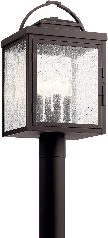 Kichler 59013RZ Carlson Outdoor Post, 4-Light 240 Total Watts, Rubbed Bronze
