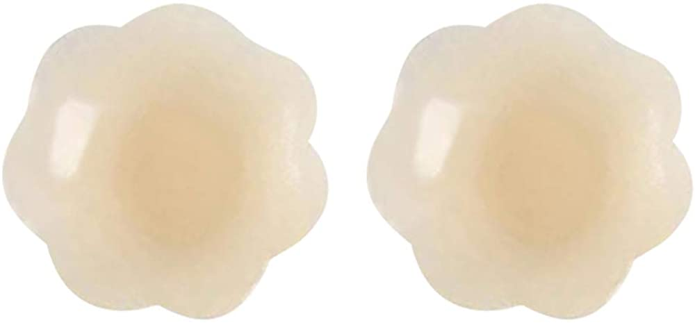 Ezulla Fashion Silicone Cover Women,Invisible Silicone Nipple Covers Breast,Reusable Self Adhesive Bra, (1 Pair)