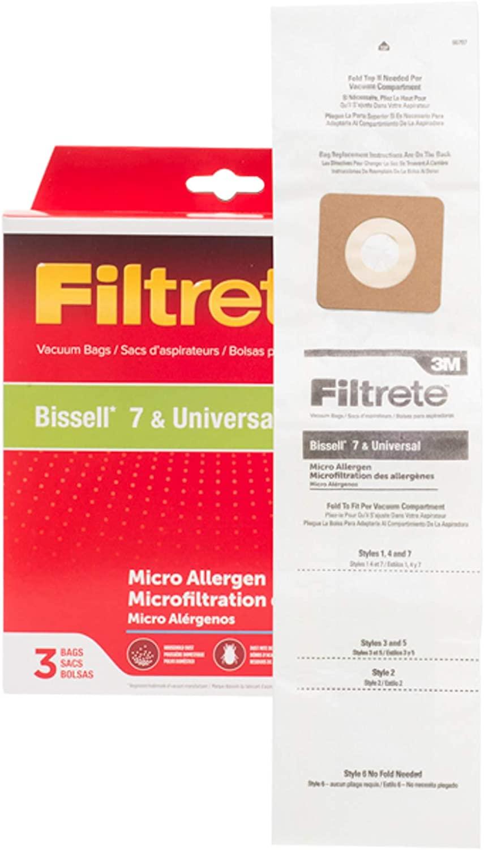 Electrolux 3M Bissell 7 & Universal Micro Allergen Bag Pkg