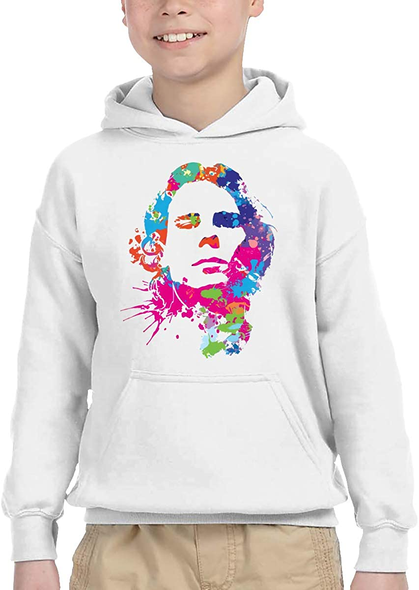 Funny Rafael Nadal Colored Head Portrait Comfortable Children's Hooded Pocket Sweater White