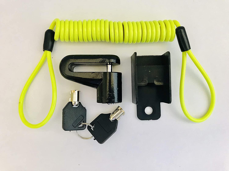 JLP New Disk Lock & Reminder Brake Accessories Minder Cable Reminder for Motorcycle