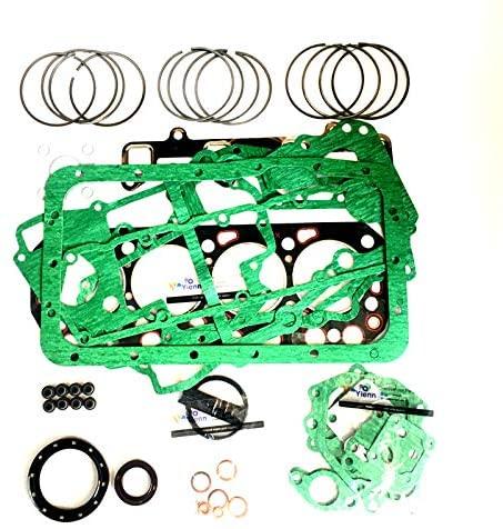 V3600 Overhaul Re-ring Kit For Kubota Excavator Loader Tractor Diesel Engine Piston Ring Bearing Full Gasket Set