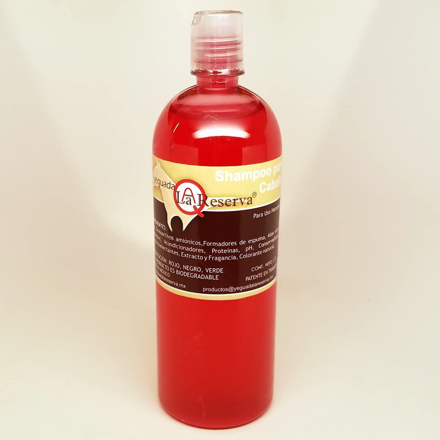 Yeguada La Reserva Shampoo de Caballo Rojo (1 liter Bottle) For Strong, Healthy And Beautiful Hair (For Light Colored Hair)