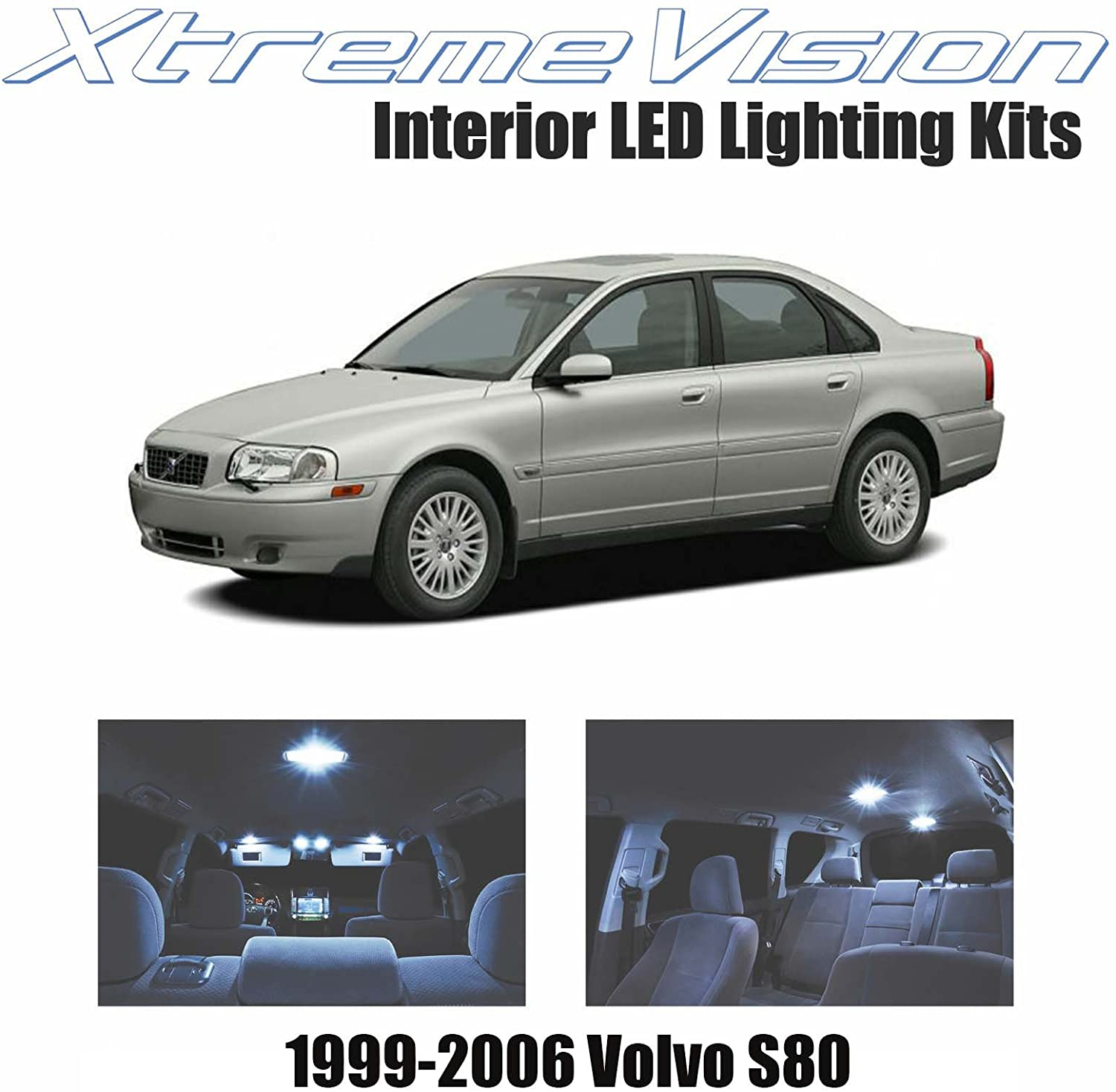 Xtremevision Interior LED for Volvo S80 1999-2006 (12 Pieces) Cool White Interior LED Kit + Installation Tool