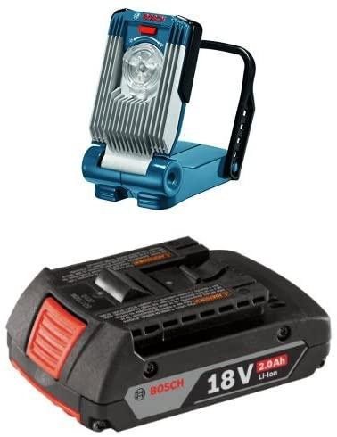 Bosch GLI18V-420B Bare-Tool 18V Lithium-Ion LED Work Light with 2.0 AH battery