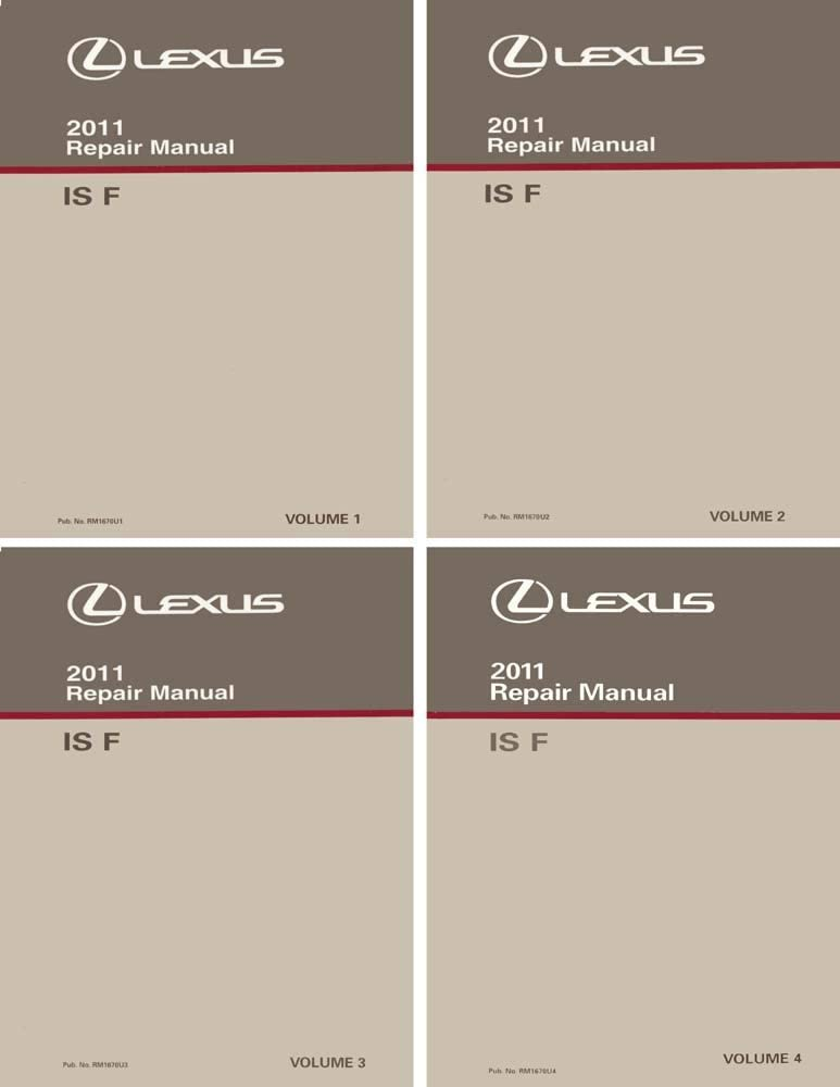 bishko automotive literature Shop Service Repair Manual Complete Set for The 2011 Lexus is F
