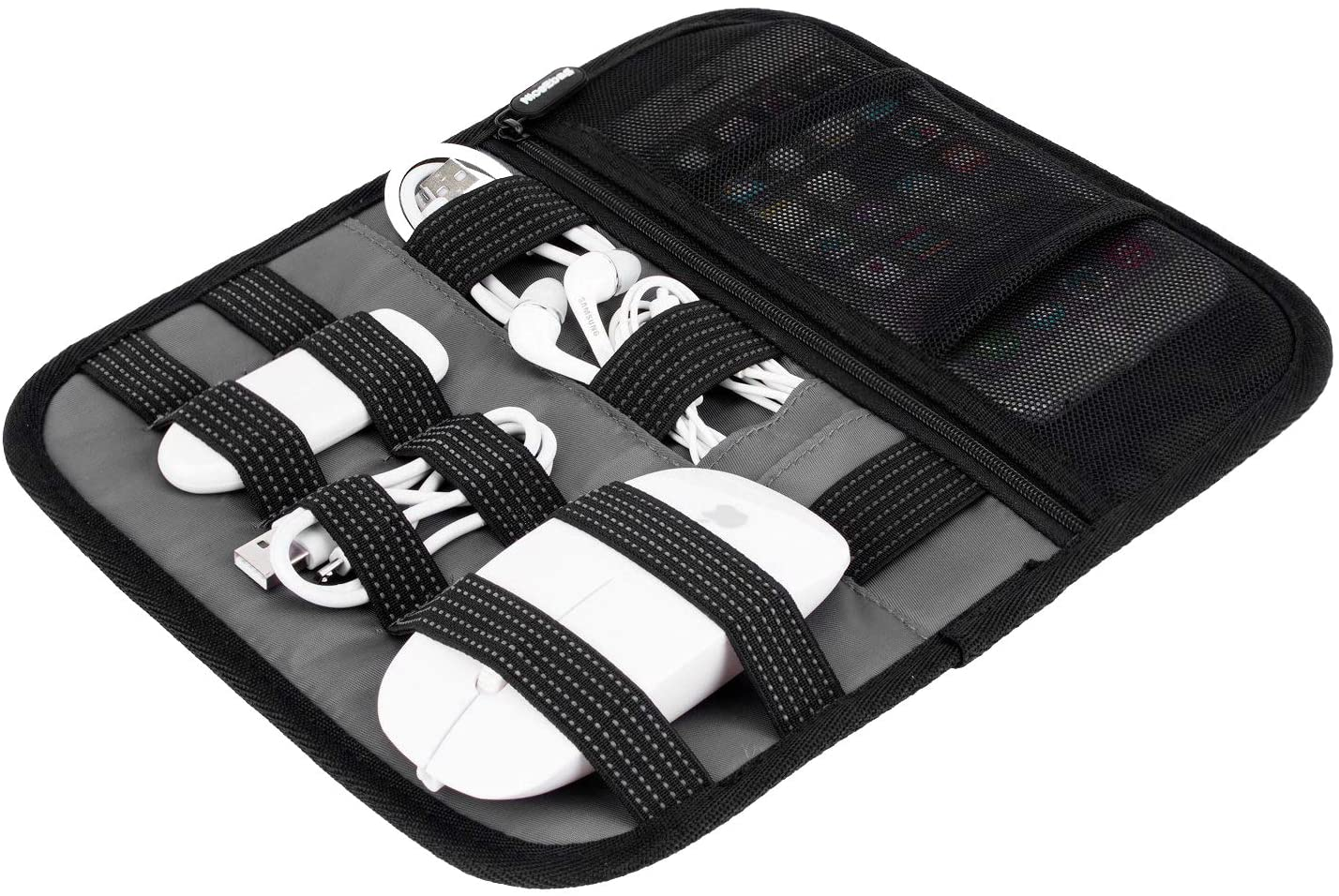 SOCKO Accessories Organizer Electronics Holder Board for Fixing Cables/HD Drive/Travel 10.5x9.0 Inches (Black)
