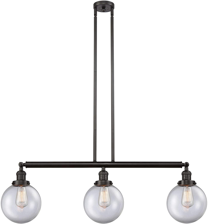 Innovations 213-OB-S-G202-8-LED 3 Vintage Dimmable LED Adjustable Island Light, Oil Rubbed Bronze