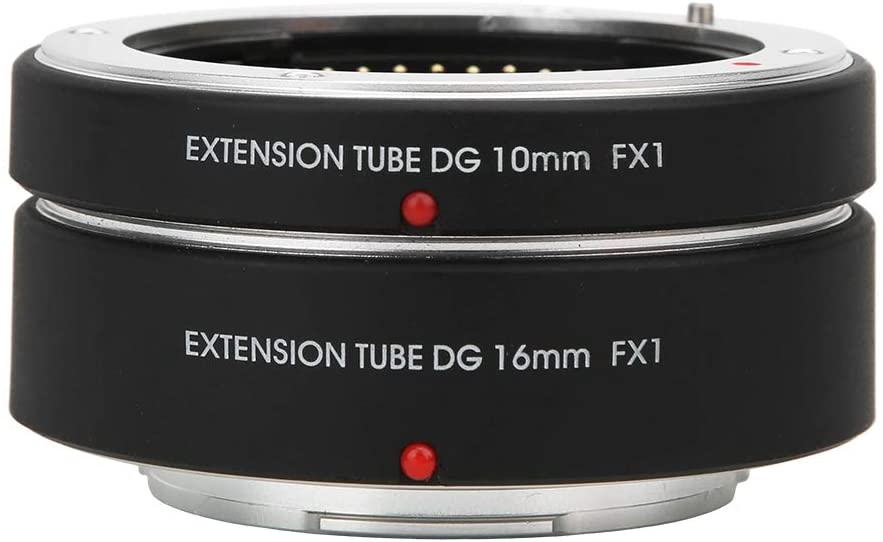 Macro Lens Adapter, 10mm+16mm Adapter Ring, Automatic Focusing,Automatic Exposure, Camera Lens Ring for Fujifilm FX Mount Camera