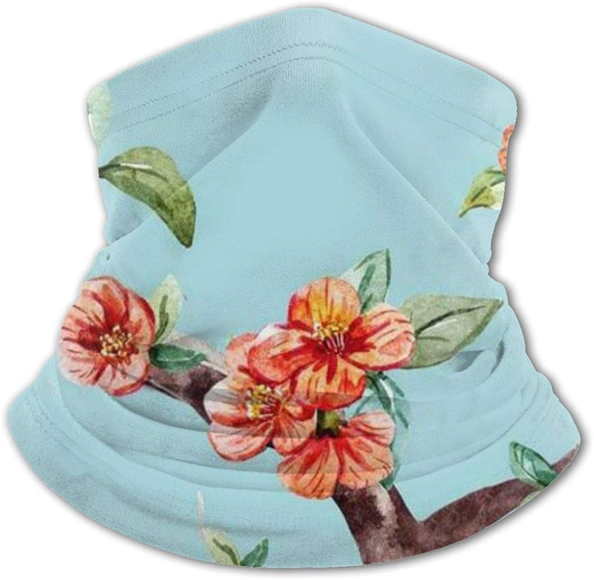 Flower Art Light Blue Headwear For Girls And Boys, Head Wrap, Neck Gaiter, Headband, Tenn Fishing Mask, Magic Scarf, Tube Mask, Face Bandana Mask For Camping Running Cycling