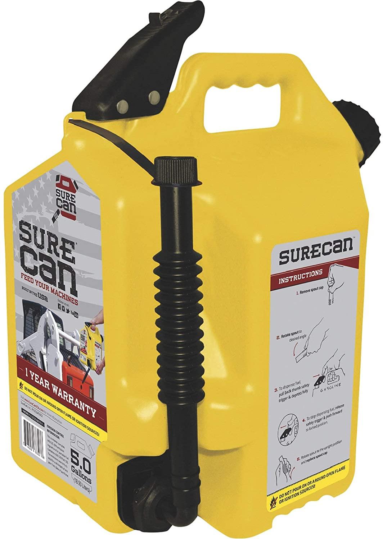 SureCan 5-Gallon Diesel Can - Model Number SUR50D1