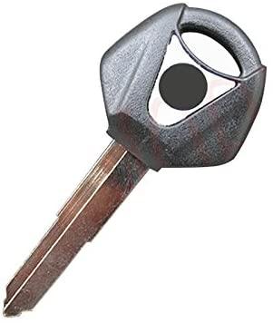 AKDSteel Motorcycle Accessories Uncut Blank Key for YAMA/HA YZF YZF R1 R6 FZ1 FZ4 FZ6 FZ8 XJ6 XJR Black