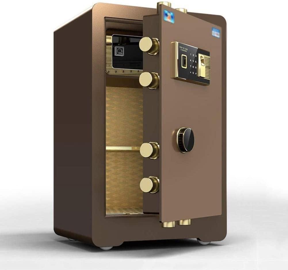 ZBY Safe Boxs Safe Box Digital Safe,Electronic Safe, Cash Box, Home Safe, Anti-Theft Invisible Safe All Steel Wall Safe Commercial Fingerprint Safe (Size, 41 X 35 X 61Cm),Brown,41X35X61Cm
