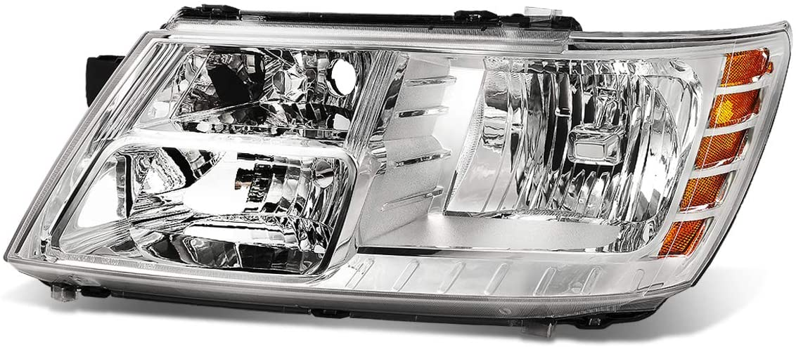 CH2502222 OE Style Chrome Housing Driver/Left Side Headlight Lamp Replacement for Dodge Journey 09-20