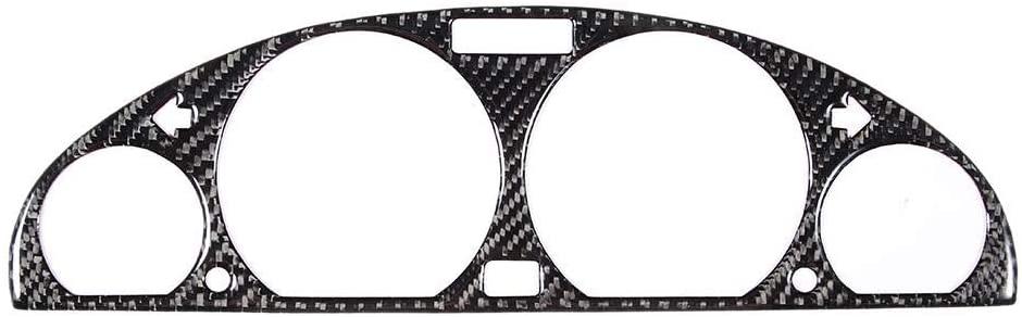 Car Interior Decoration,Central Control Trim,Carbon Fiber Center Console Instrument Panel Cover Trim Fits for E46 M3 98-05
