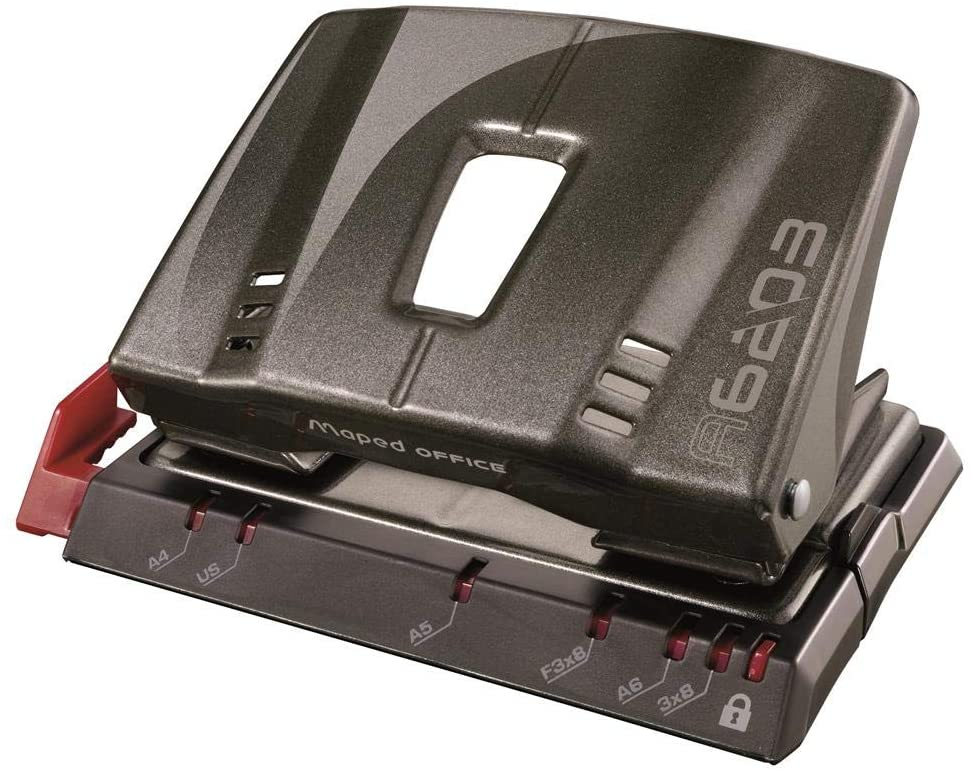Maped Office Advanced Grey Metal Two Hole Punch (20 Sheets)