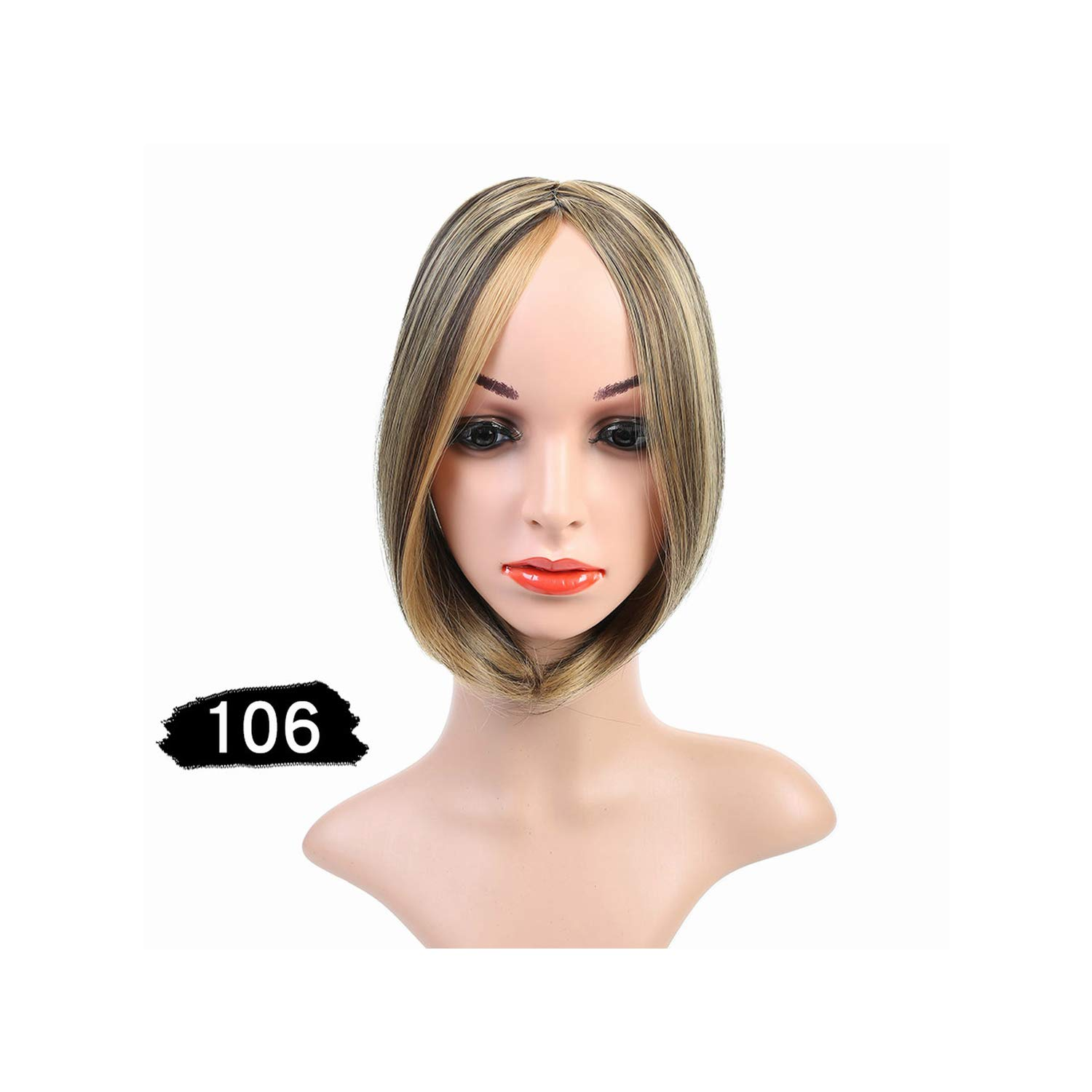 Short Inclined In Side Bangs In Front Hair Bang Fringe Hair Extension Piece Headwea,106,10Inches