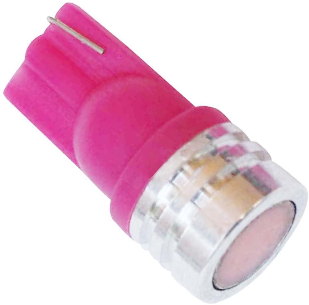 BYOPTO 6 Pcs (Pink T10 1.5W-type) LED SMD car auto motorcycle signal/backup/reverse/map/indicator/interior lamp Light bulb