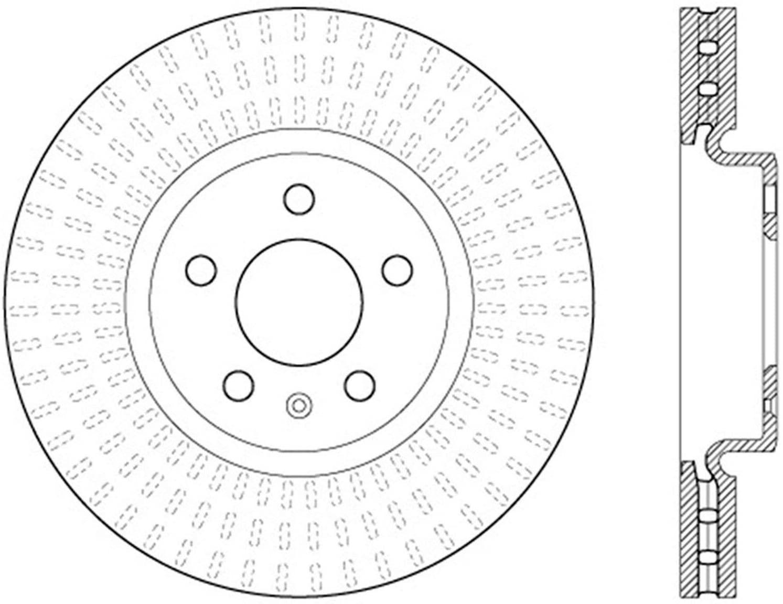 Centric (121.33136) C-Tek Brake Rotor