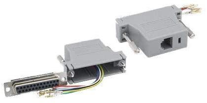 Kentek D-Sub Modular Adapter DB25 Female to RJ12 RJ-12 Female F/F Serial Jack Plug Phone Telecom PC
